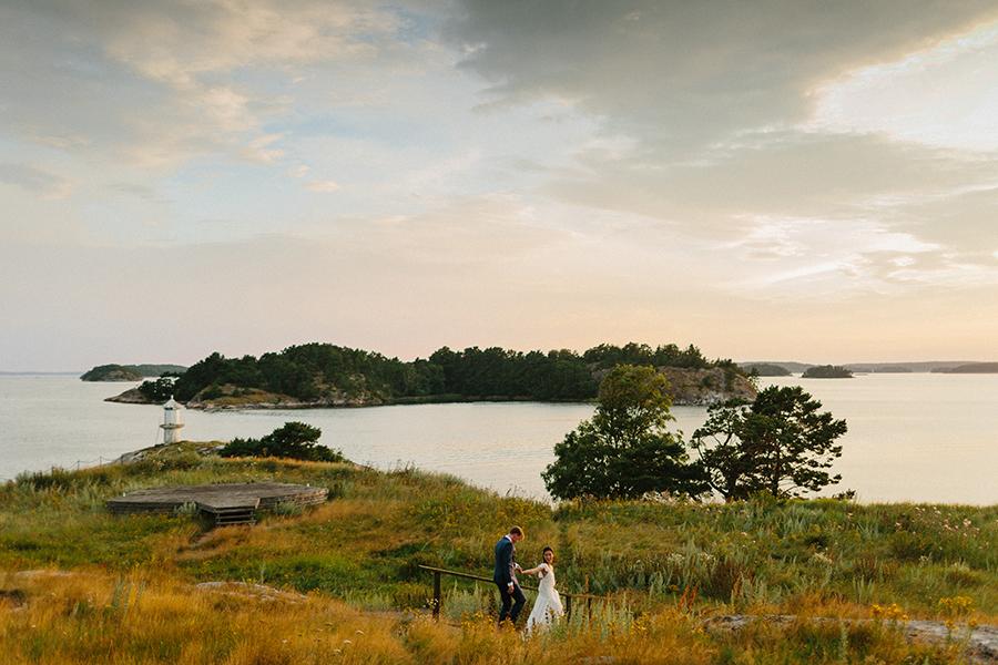 Sweden archipelago wedding