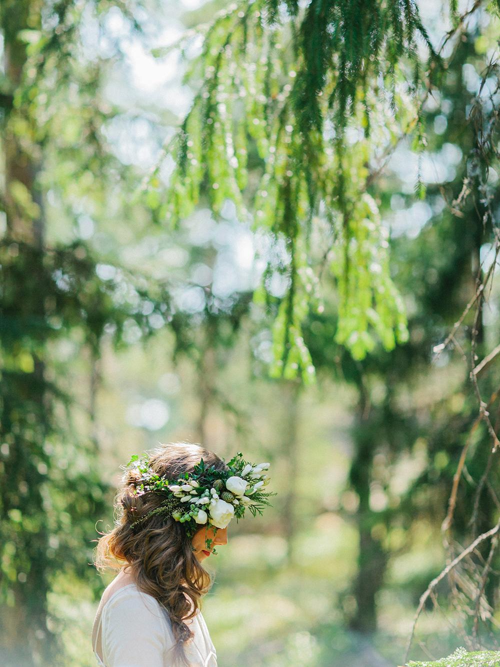 forest boho bride