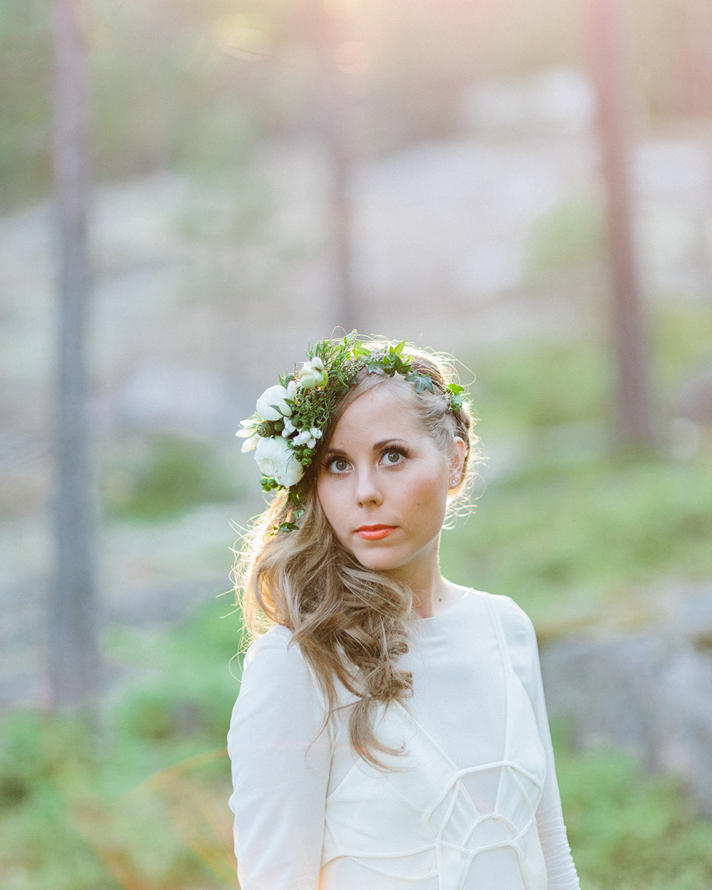 boho bride hairpiece