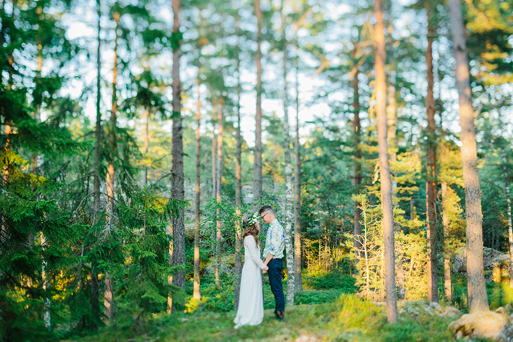 woodland wedding finland