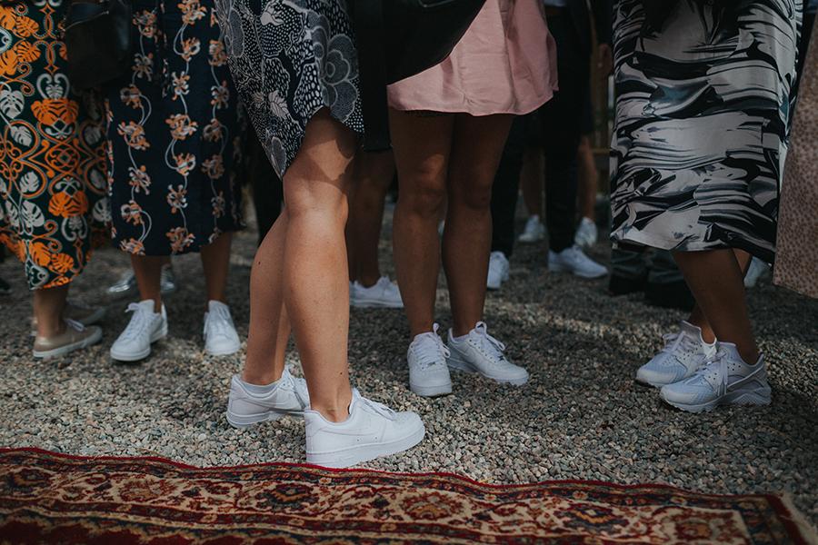 sneakers bröllop tema