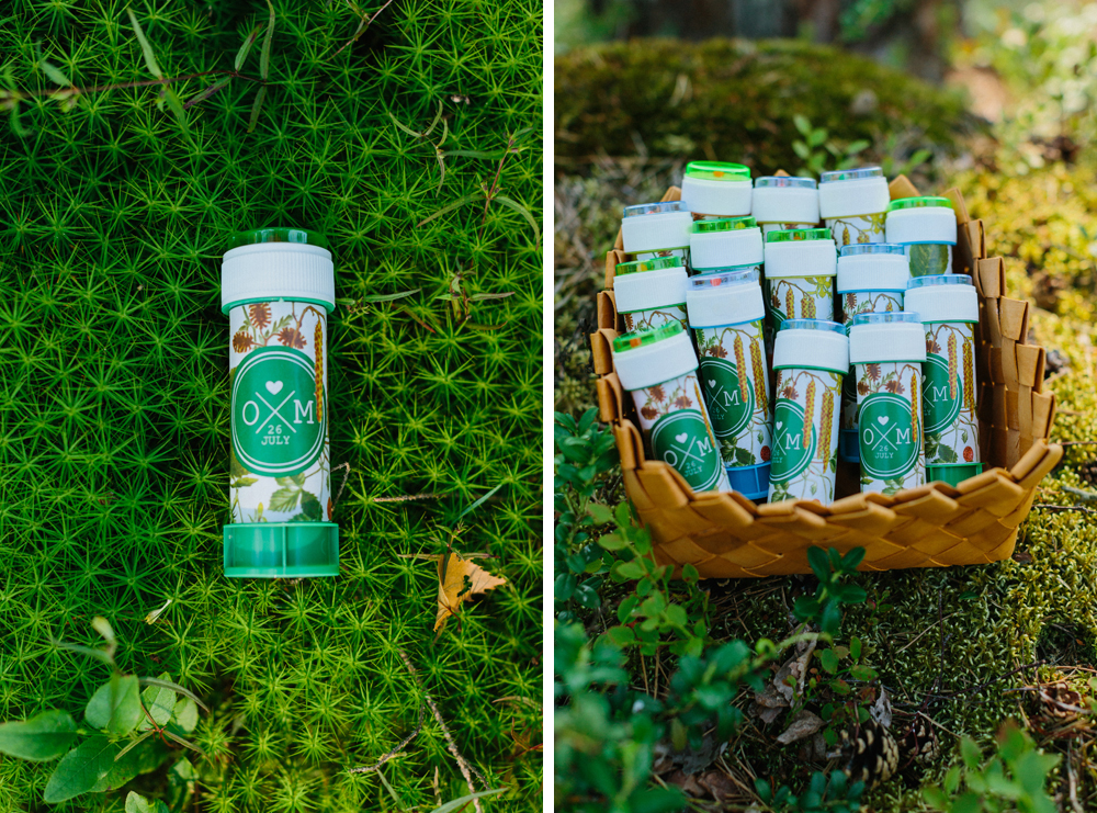wedding favors forest