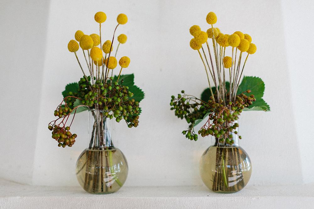 centerpieces boho flowers