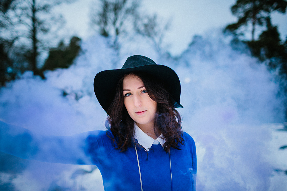 Smoke Bomb portrait